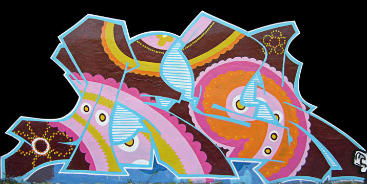 fresque graffiti seventies
