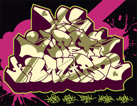 graphisme graff vecto